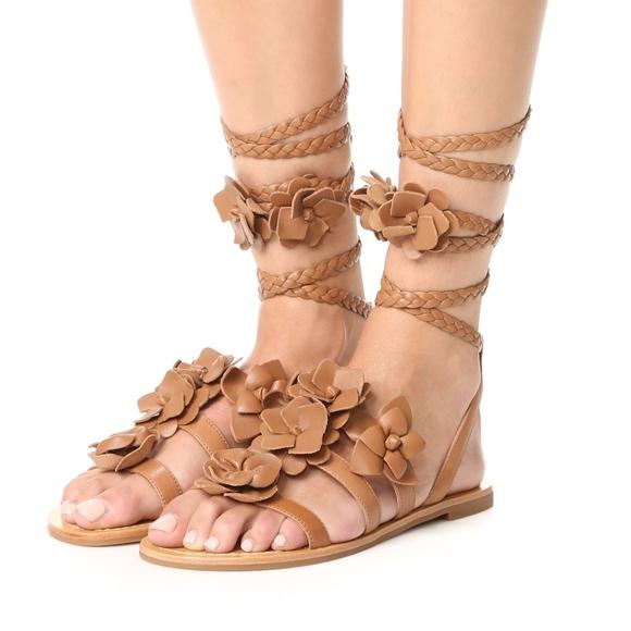 e141272f462bc3 New TORY BURCH Blossom Gladiator Sandals Flats
